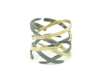 14K Gold & Silver Woven Ring