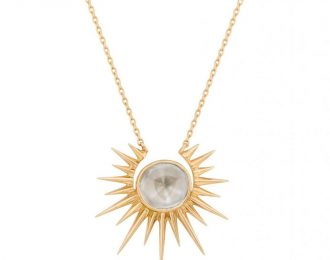 Sun and Polki Diamond Necklace