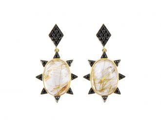 Rutile Starburst Earrings