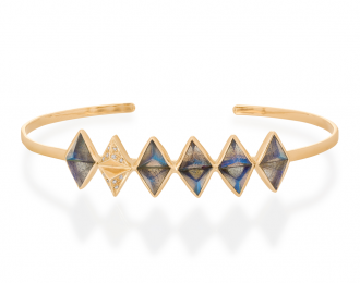 Pyramid Labradorite Bangle
