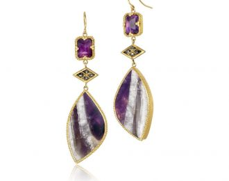 Amethyst Wings Earrings