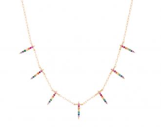 Sapphire Sunbeam Necklace
