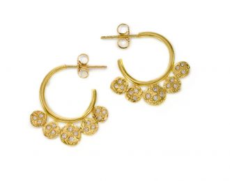 Etruscan Diamond Hoops