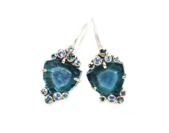 Crude Beauty Tourmaline Ocean Earrings